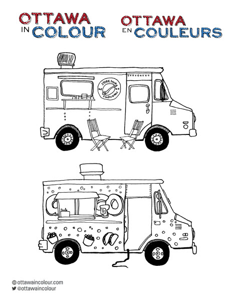 Foodtrucks drawing preview