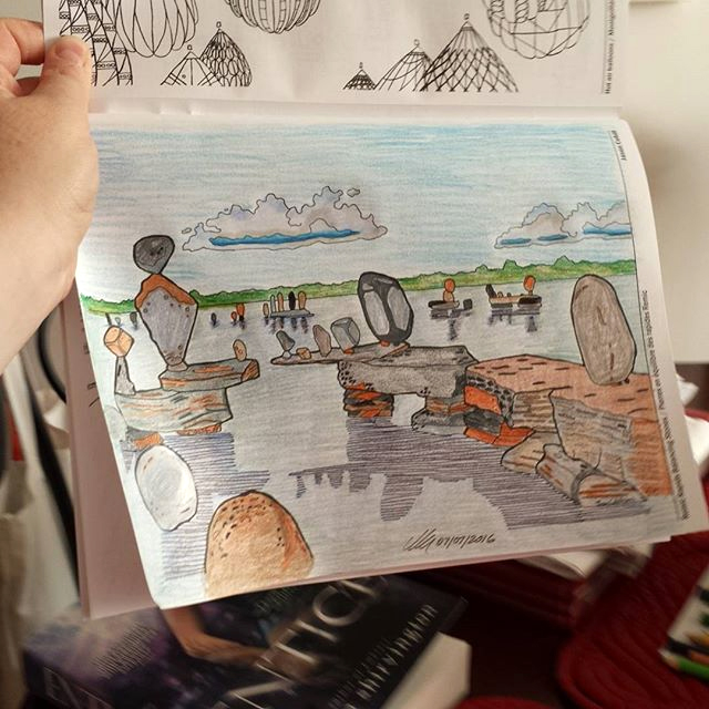 Colouring credit: Remic Rapids Balancing Stones by Meeteelee